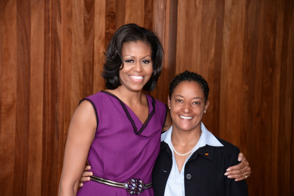 Angel-with-First-Lady-Michelle-Obama1-e1418501753686